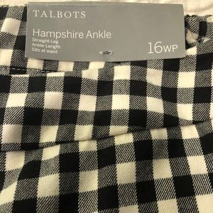 NWT Talbots 16WP, Hampshire Ankle Pants